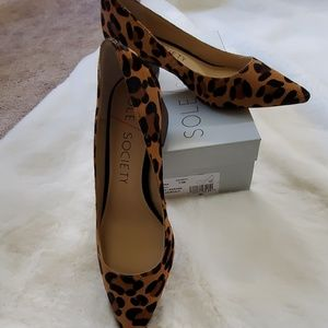 Sole Society Leopard Hair Calf Pumps